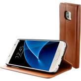 Mobiparts Luxury Book Case Samsung Galaxy S7 Chic Brown