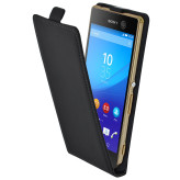 Mobiparts Premium Flip Case Sony Xperia M5 Black