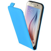 Mobiparts Premium Flip Case Samsung Galaxy S6 Light Blue