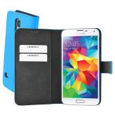 Mobiparts Premium Wallet Case Samsung Galaxy S5 / S5+ Light Blue