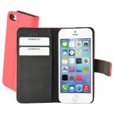 Mobiparts Premium Wallet Case Apple iPhone 5/5S/SE Peach Pink
