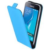 Mobiparts Premium Flip Case Samsung Galaxy J1 (2016) Light Blue