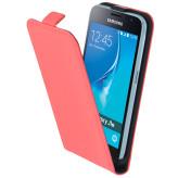 Mobiparts Premium Flip Case Samsung Galaxy J1 (2016) Peach Pink