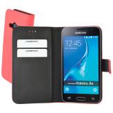 Mobiparts Premium Wallet Case Samsung Galaxy J1 (2016) Peach Pink