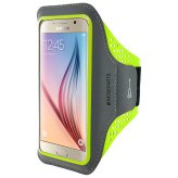 Mobiparts Comfort Fit Sport Armband Samsung Galaxy S6 Neon Green