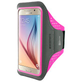 Mobiparts Comfort Fit Sport Armband Samsung Galaxy S6 Neon Pink