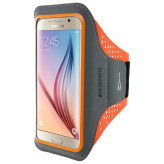 Mobiparts Comfort Fit Sport Armband Samsung Galaxy S6 Neon Orange