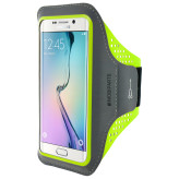 Mobiparts Comfort Fit Sport Armband Samsung Galaxy S6 Edge Neon Green
