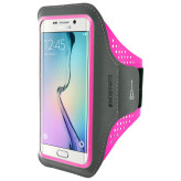 Mobiparts Comfort Fit Sport Armband Samsung Galaxy S6 Edge Neon Pink