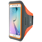 Mobiparts Comfort Fit Sport Armband Samsung Galaxy S6 Edge Neon Orange