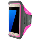 Mobiparts Comfort Fit Sport Armband Samsung Galaxy S7 Neon Pink