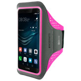 Mobiparts Comfort Fit Sport Armband Huawei P9 Neon Pink