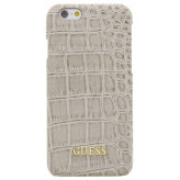 Guess Croco Backcover Case Apple iPhone 6/6S Shiny Beige