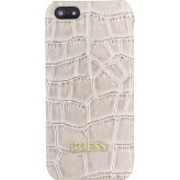 Guess Croco Backcover Case Apple iPhone 5/5S/SE Shiny Beige