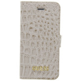 Guess Croco Book Case Apple iPhone 5/5S/SE Shiny Beige