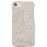 Guess Croco Backcover Case Apple iPhone 6/6S/7/8 Shiny Beige