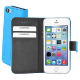 Mobiparts Premium Wallet TPU Case Apple iPhone 5/5S/SE Light Blue