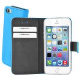 Mobiparts Premium Wallet TPU Case Apple iPhone 5/5S/SE Light Blue