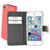 Mobiparts Premium Wallet TPU Case Apple iPhone 5/5S/SE Peach Pink