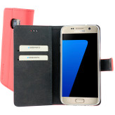 Mobiparts Premium Wallet TPU Case Samsung Galaxy S7 Peach Pink