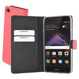 Mobiparts Premium Wallet TPU Case Huawei P8 Lite (2017) Peach Pink