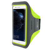 Mobiparts Comfort Fit Sport Armband Huawei P10 Lite Neon Green