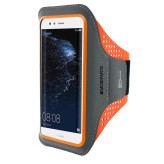 Mobiparts Comfort Fit Sport Armband Huawei P10 Lite Neon Orange