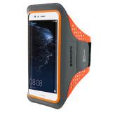 Mobiparts Comfort Fit Sport Armband Huawei P10 Lite Neon Orange