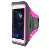 Mobiparts Comfort Fit Sport Armband Huawei P10 Lite Neon Pink