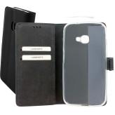 Mobiparts Premium Wallet TPU Case Samsung Galaxy Xcover 4 Black