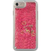 Guess Glitter Liquid Hard Case Apple iPhone 6/6S/7/8 Raspberry