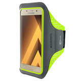 Mobiparts Comfort Fit Sport Armband Samsung Galaxy A3 (2017) Neon Green