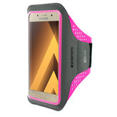 Mobiparts Comfort Fit Sport Armband Samsung Galaxy A3 (2017) Neon Pink