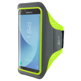 Mobiparts Comfort Fit Sport Armband Samsung Galaxy J7 (2017) Neon Green