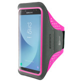 Mobiparts Comfort Fit Sport Armband Samsung Galaxy J7 (2017) Neon Pink