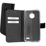 Mobiparts Premium Wallet TPU Case Motorola Moto E4 Black