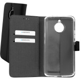 Mobiparts Premium Wallet TPU Case Motorola Moto E4 Plus Black