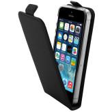 Mobiparts Premium Flip TPU Case Apple iPhone 5/5S/SE Black