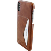 Mobiparts Excellent Backcover Apple iPhone X Oaked Cognac