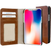 Mobiparts Excellent Wallet Case Apple iPhone X Oaked Cognac