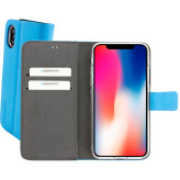 Mobiparts Premium Wallet TPU Case Apple iPhone X Light Blue