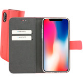 Mobiparts Premium Wallet TPU Case Apple iPhone X Peach Pink