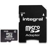 Integral MicroSD 32GB + Adapter (Class 10)