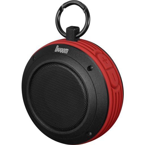 Divoom VoomBox Travel Ruggedized Bluetooth Speaker Red