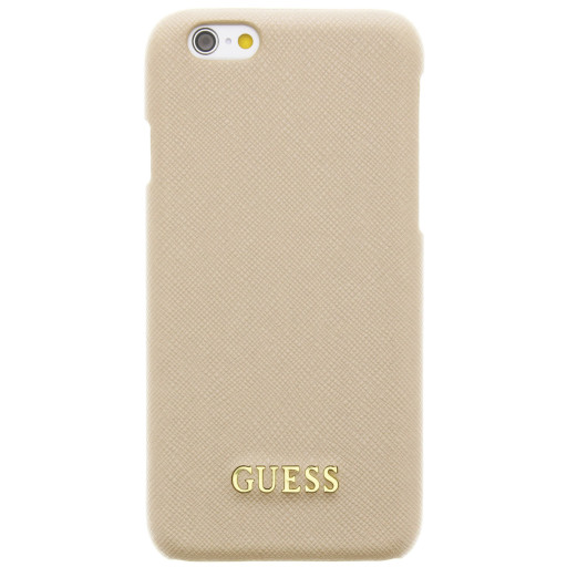 Guess Saffiano Backcover Case Apple iPhone 6/6S Beige GUHCP6TBE
