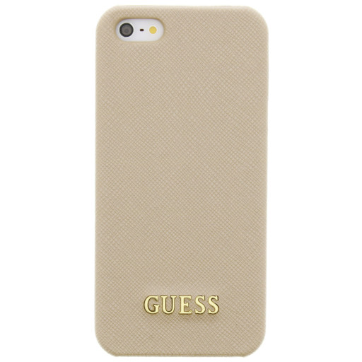 Guess Saffiano Backcover Case Apple iPhone 5/5S/SE Beige GUHCPSETBE