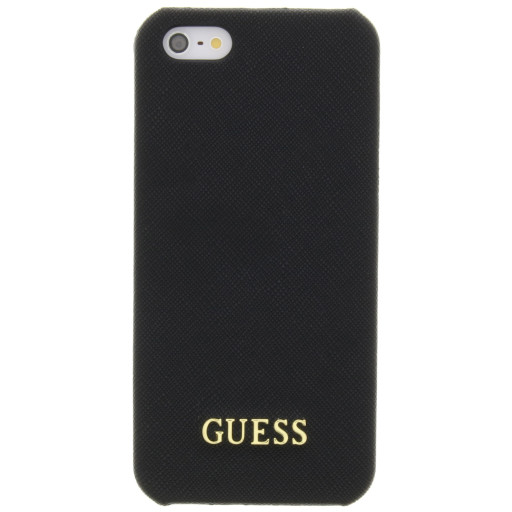 Guess Saffiano Backcover Case Apple iPhone 5/5S/SE Black GUHCPSETBK