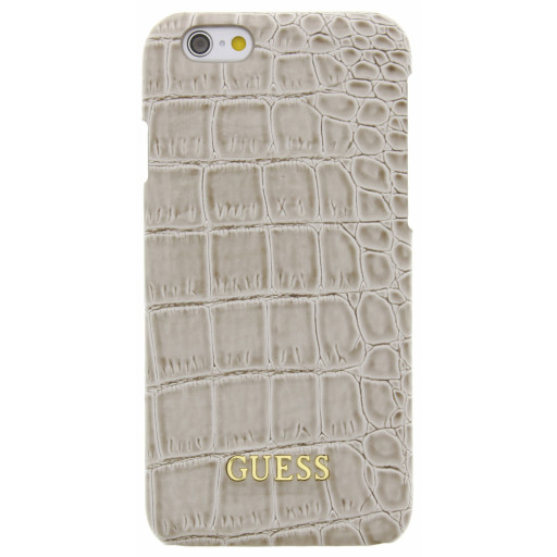 Guess Croco Backcover Case Apple iPhone 6/6S Shiny Beige GUHCP6SCOBE