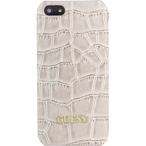 Guess Croco Backcover Case Apple iPhone 5/5S/SE Shiny Beige GUHCPSESCOBE