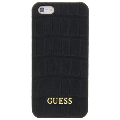 Guess Croco Backcover Case Apple iPhone 5/5S/SE Matte Black GUHCPSEMCOBK
